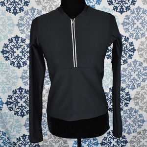 NIKE DRI-FIT 1/2 ZIP UP PULLOVER WITH BUILD-IN BRA